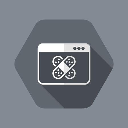 Icono de ilustración de vector plano y aislado con diseño moderno mínimo y larga sombra