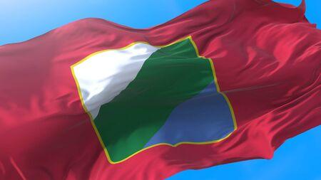 Abruzzo, region of Italy, waving flag Realistic Abruzzese background. Abruzzo background