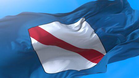 Campania, region of Italy, waving flag Realistic Campanian background. Campania background