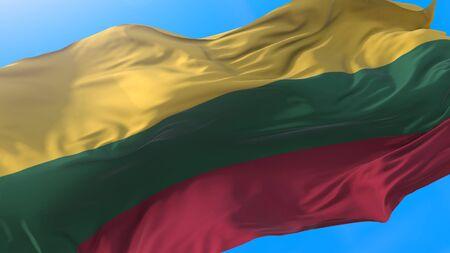 Lithuania waving flag. Lithuanian background.
