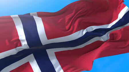Norway waving flag. Norwegian background.