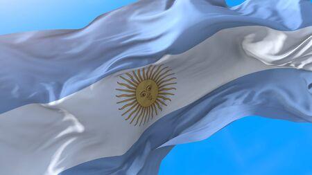 Argentina flag waving Realistic Argentine background. Argentina background Stock fotó