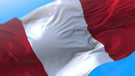 Perù waving flag. Peruvian background. Stock fotó