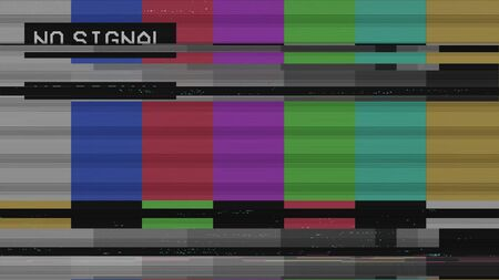 Vintage VHS (Video Home System) defects noise and artifacts effect. Glitches error from an old tape or old TV. No signal tv. Glitch effect.