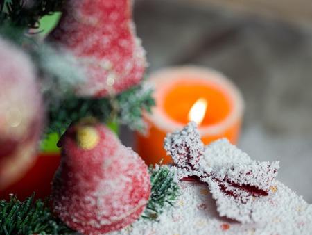 Christmas tree and Christmas decorations Stock Photo