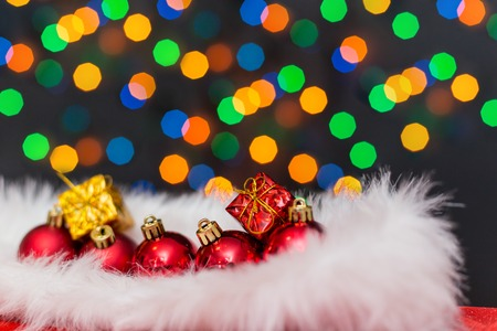 dof: christmas ball on abstract light background,Shallow Dof Stock Photo