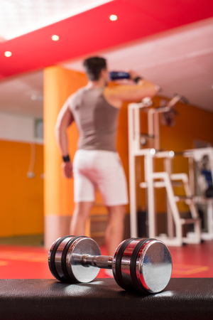 dumbbell on the gym floor