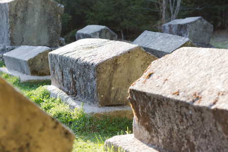 tombstones: The Medieval Tomb in Bosnia. Stecak tombstones from medieval period.