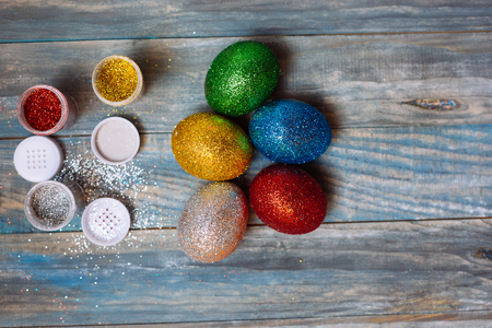 DIY project and new creative idea how to color Easter eggs