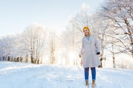 winter woman: WInter woman portrait outdoor