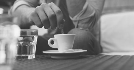 Closeup of coffe cup