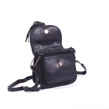 women leather handbag isolated on white background