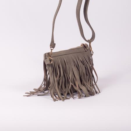 Leather Ladies Handbag on white background
