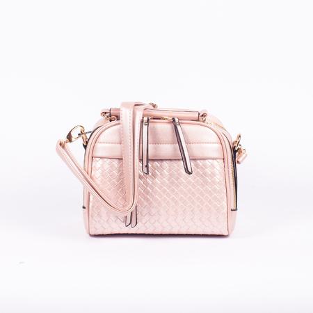 elegant leather ladies handbag isolated on white background Reklamní fotografie