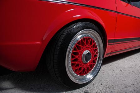 Car wheel - sport car Stock Photo