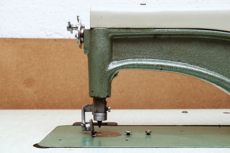 Retro sewing machine, old tools for craft