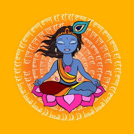 Lord Krishna background for janmashtami festival of India