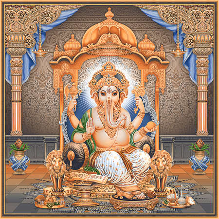 Lord Ganesha painting for wall
