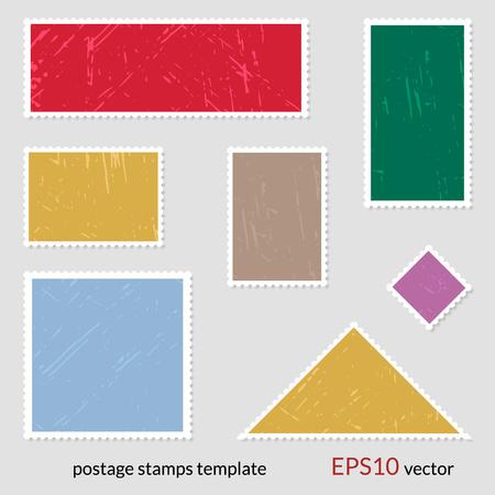 Blank postage stamps set