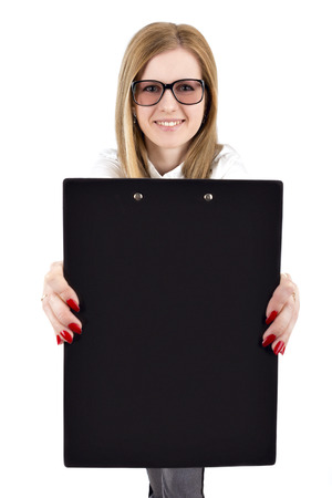 girl in the office style, with the tablet photo