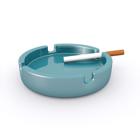 Cigarette Ashtray Stock Photo