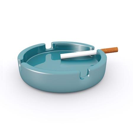 Cigarette Ashtray Stock Photo