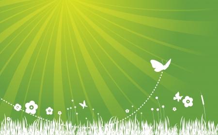 Garden Background - Green Illustration