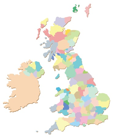 UK Counties Vector