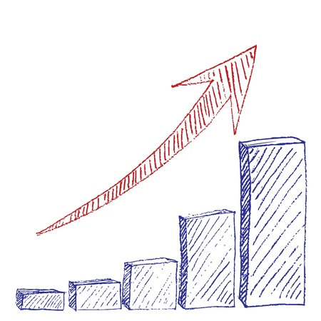 Growth Chart Sketch Stock Photo