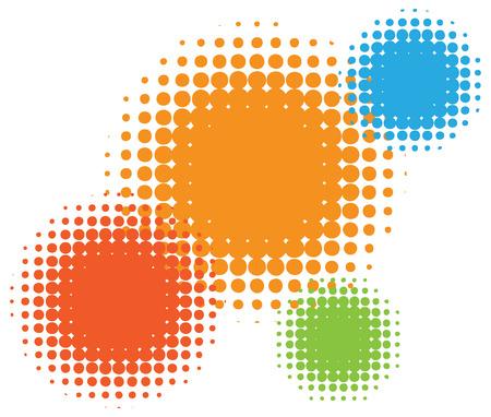 tones: Vector half tone circles