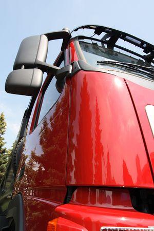 truck cabin face Stock Photo