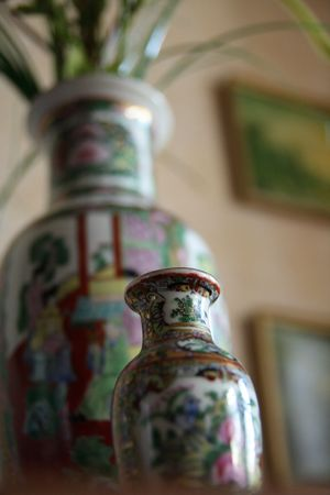 The Chinese vases.