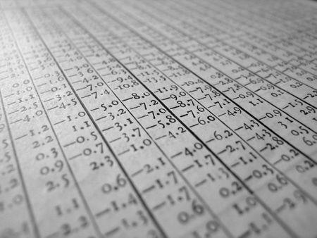 Old style spreadsheet.