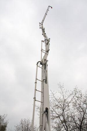 Concrete pump boom. Standard-Bild