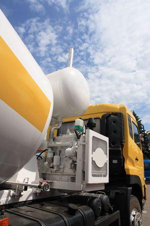 Concrete mixer truck. Stock Photo
