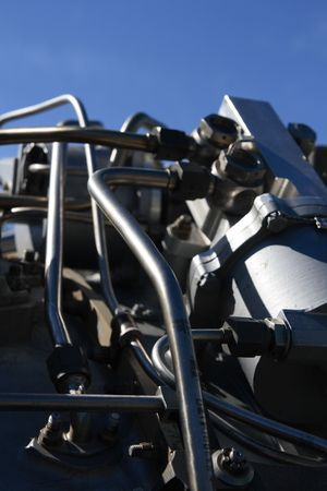 Jet engine detail. Stock Photo