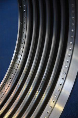 Steel machine part.