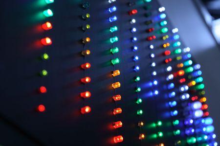 Big indicator panel.  Stock Photo