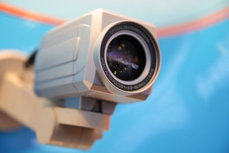 CCTV video camera. Stock Photo