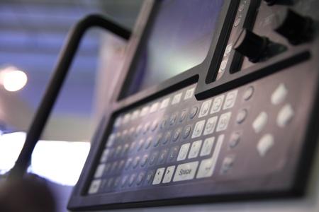 Control panel of industrial equipment. Standard-Bild