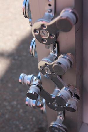 Steel details of modular formwork.