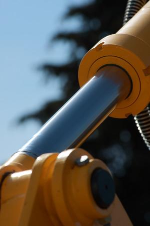 pistone idraulico. Visualizzazione dettagliata di costruzione di macchine.