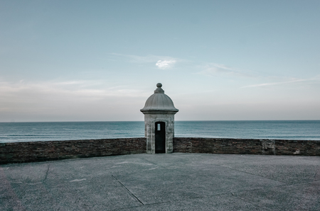 Sentry Box of San Cristobal Castle and the Sea in Old San Juan, Puerto Rico