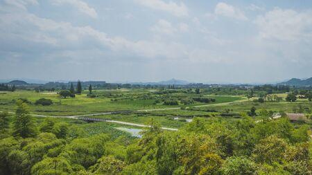 Landscape around Archaeological Ruins of Liangzhu City, in Hangzhou, China