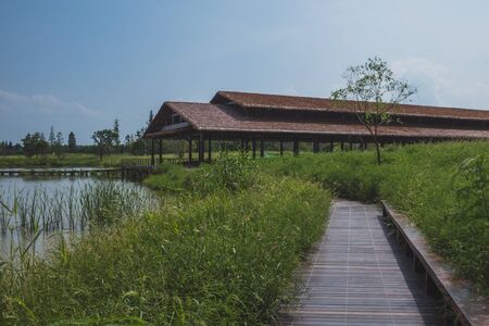 Building at Archaeological Ruins of Liangzhu City, Hangzhou, China