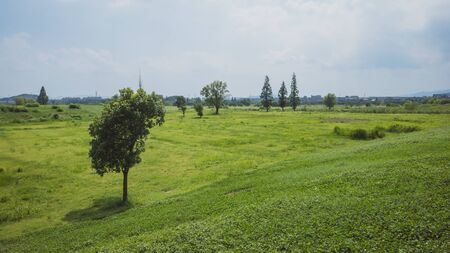 Landscape around Archaeological Ruins of Liangzhu City, in Hangzhou, China