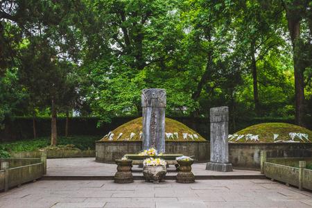 Tombs of Yue Fei in Yuewang Memorial Temple near West Lake, in Hangzhou, China