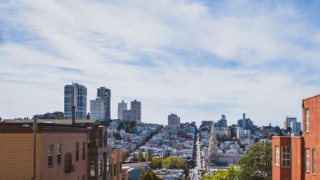 Buildings and houses of city centre of San Francisco, California, USA Stock fotó