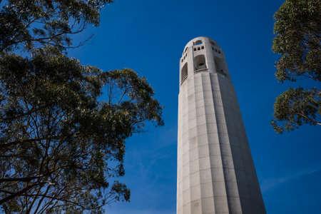 Coit Tower on Telegraph Hill in San Francisco, California, USA