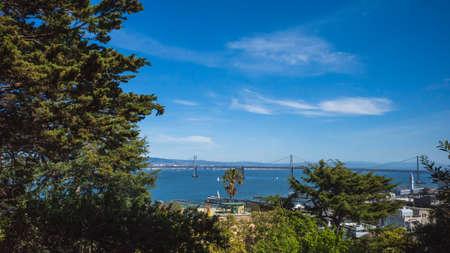 View of San Francisco Bay in San Francisco, California, USA